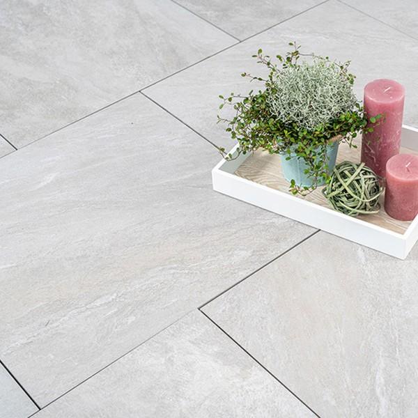 Ceratio quarz 60x60x4 cm Terrassenplatte Keramik Beispiel