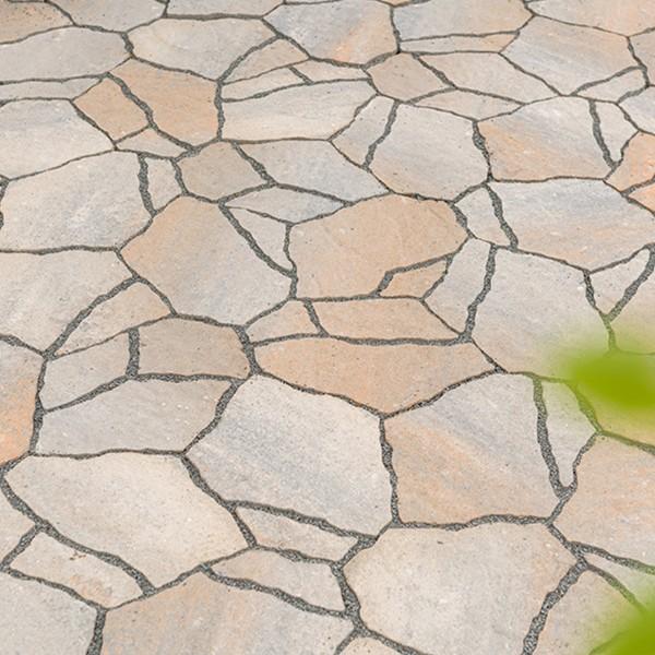 Terrassenplatte Calmont Polygonalplatte muschelkalk