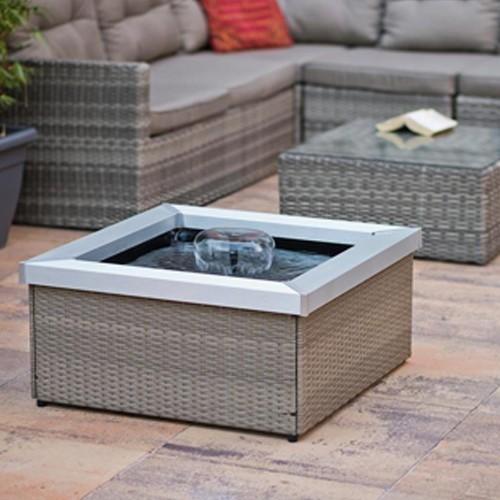 terrassenteich amora 35x74x74cm polyrattan grau beige ab 249 00. Black Bedroom Furniture Sets. Home Design Ideas
