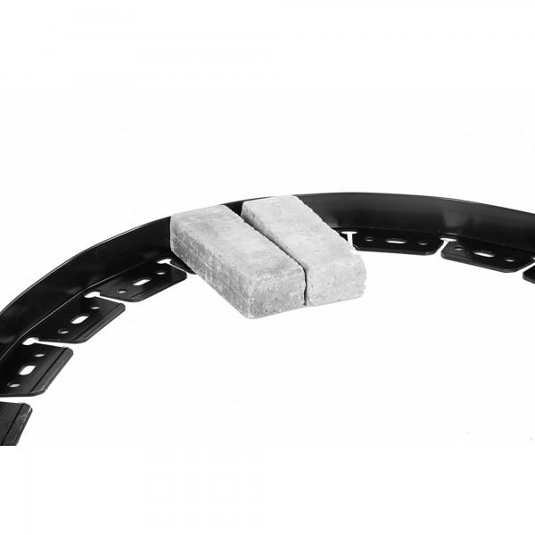 Beetbegrenzung Kunststoff 2,29 Meter schwarz