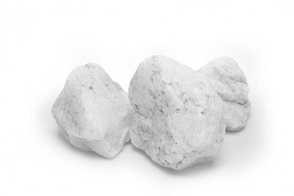 Kristallquarz 60-120 mm weiss Quarz Gabione