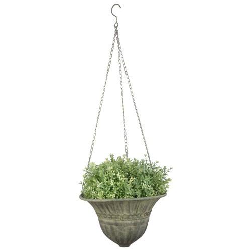 Hängende Pflanzschale Aged Metal Grün Hanging Basket