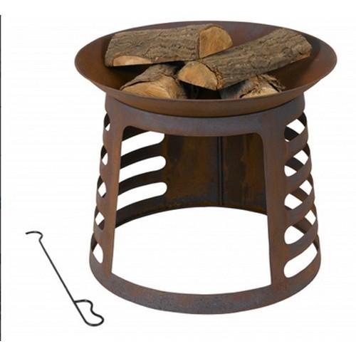 Feuerschale 61,5 cm rostoptik Terrassenfeuer - Feuerkorb