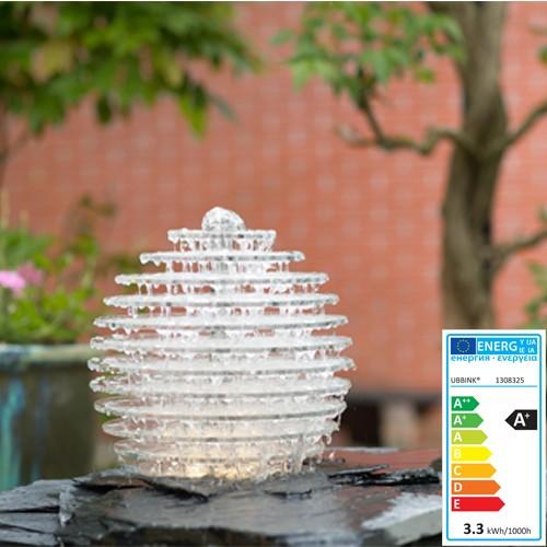 Wasserspiel Galia 13 Acrylplatten auf einer Edelstahlachse