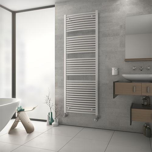 Badheizkörper TOP - weiß - Handtuchtrockner geschwungene Ausführung