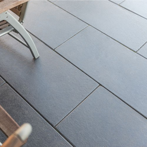 Terrassenplatte schwarz-basalt 80x40x4cm Die Belgische