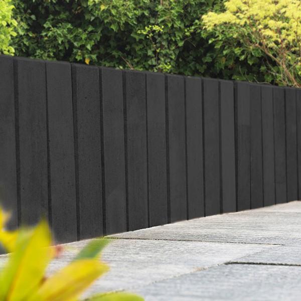 Mauerstein Lisco Kombi 80x12,5x12,5 cm basalt Gartenmauer Sichtschutz