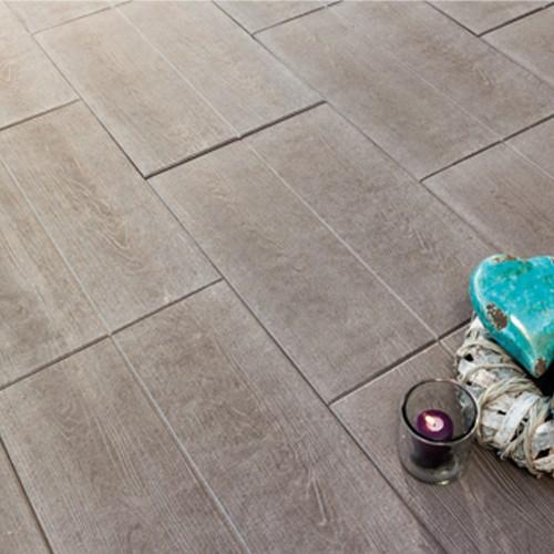 Terrassenplatte 60x40x4 cm umbra braun - Holzdielenoptik
