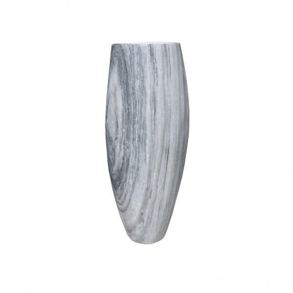 Steinvase - weiß grau - Vase