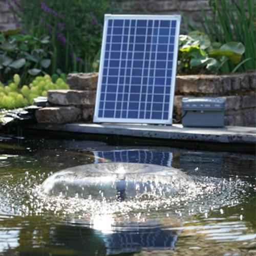 Springbrunnenpumpe mit Solarpaneel und Akku