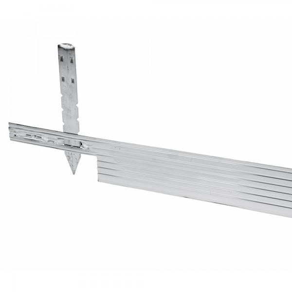 Beetbegrenzung Aluminium 2,44 Meter silbergrau