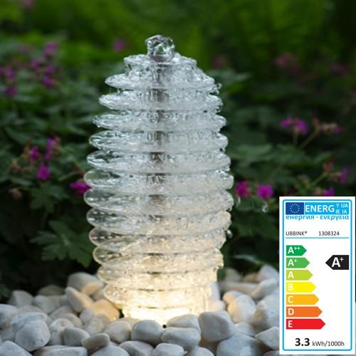 Wasserspiel Mires -Acrylplatten | 24 LED Lichter | 45x20x20cm