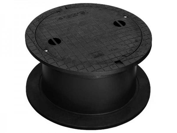 Kunststoffschachtabdeckung DN 600 begehbar mit Griffmulden New Edition Teleskop