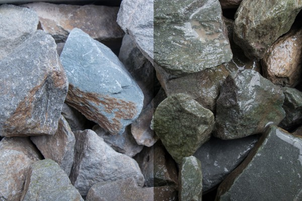 Grauwacke Stein 32-56 mm Steinschlag grau