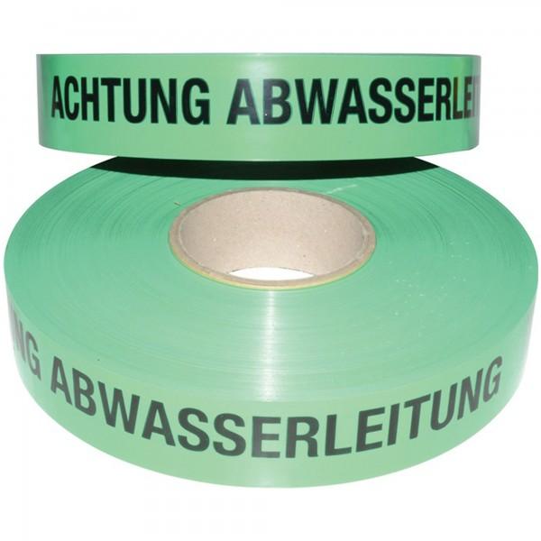 Trassenwarnband Aufdruck Achtung Abwasserleitung