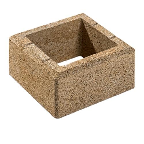Gartenmauer Sandstein Pfeilerstein | 37,5x37,5x20 cm