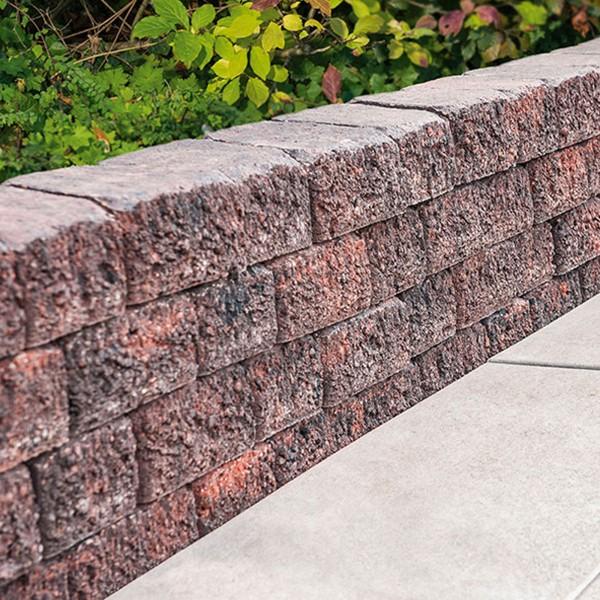 Mauerstein Riso Trapezmauerstein rot basalt
