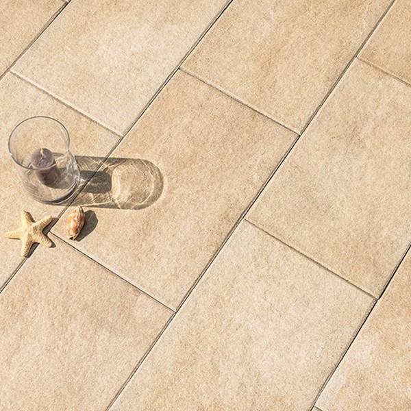 Terrassenplatte Soledo 60x40x4 cm sandstein Beispiel