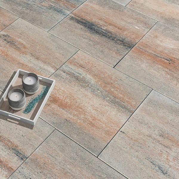 Terrassenplatte Via muschelkalk 80x80x5 cm