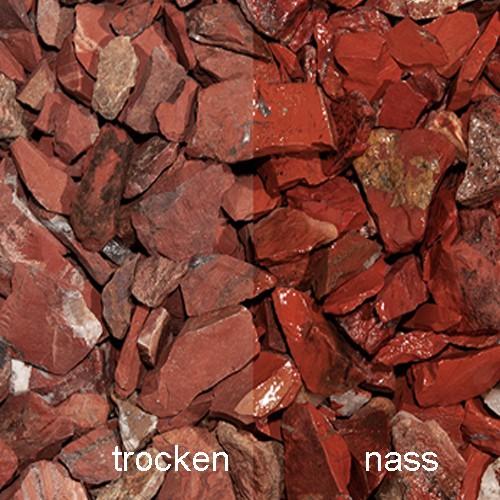 Red Jaspis Splitt 10-30 mm rot