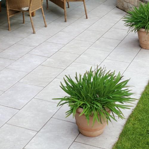 Terrassenplatte 60x40x4 cm Quarz Grau Latio