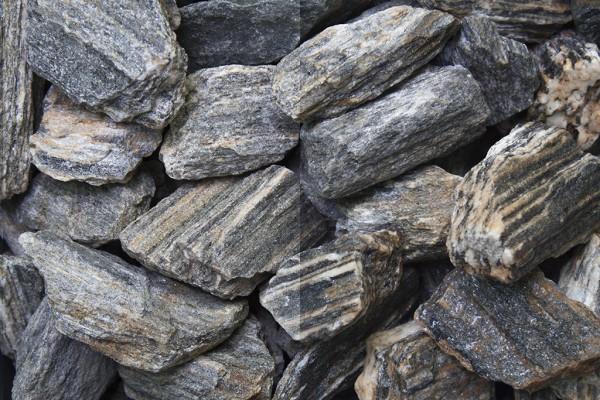 Woodstone 30-60 mm Gneis grau weiss braun