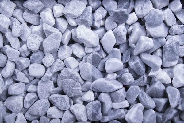 Kristall Blau getrommelt 8-16 mm Marmor trockener und nasser Zustand