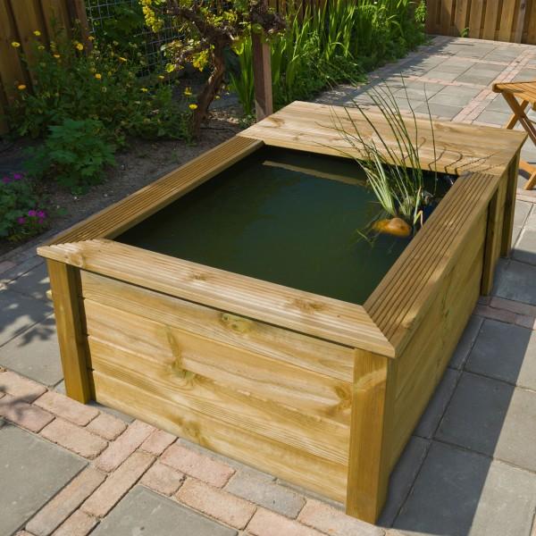 Fischbecken mit Holzumrandung 570 Liter