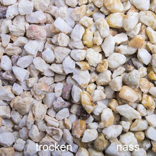 Lachssplitt 8-11 mm gelb-weiß Quarz