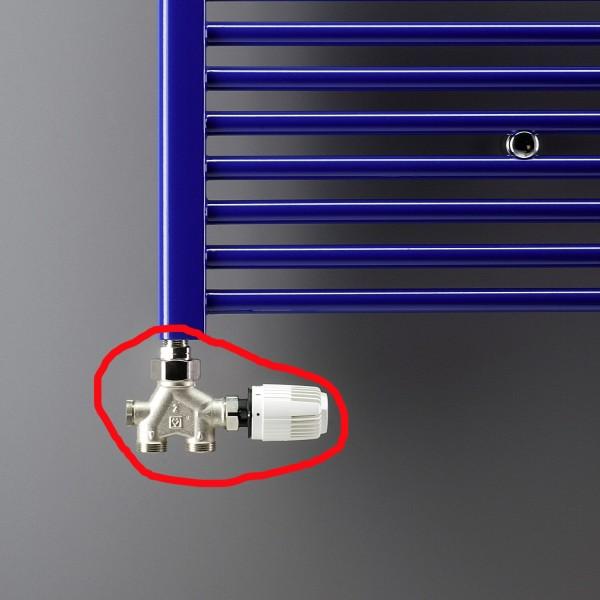 vierwege ventil f r einrohrsysteme f r heizk rper von ximax wei oder edelstahl ab 69 90. Black Bedroom Furniture Sets. Home Design Ideas