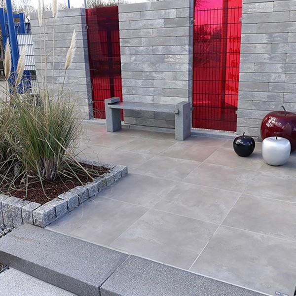 Ceratio concreto quarzit 60x60x4 cm Terrassenplatte Keramik
