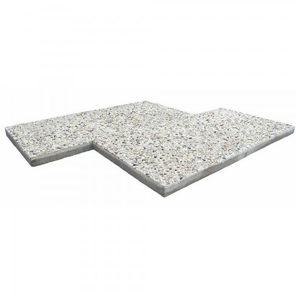 Terrassenplatte Waschbeton 40x40x4 cm weisse Körnung