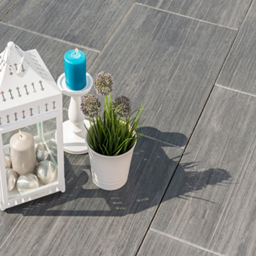 Terrassenplatte 60x40x4 cm Holzoptik basalt schwarz grau