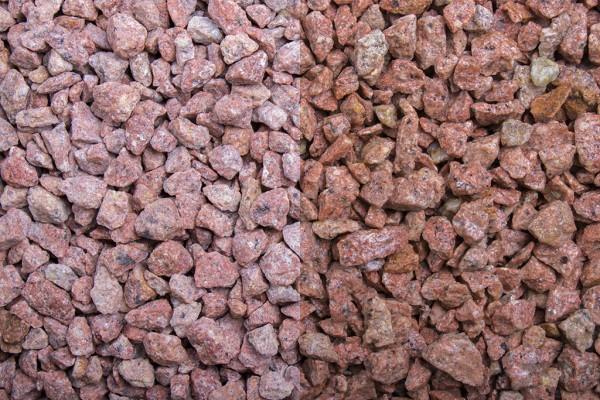 Roas Edelporphyr 8 - 12 mm trockener und nasser Zustand
