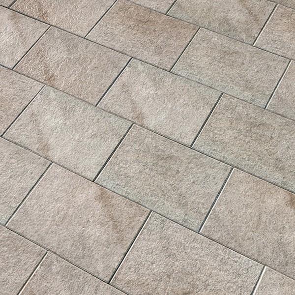 Terrassenplatte Caleo 60x40x4 cm taupe Beispiel