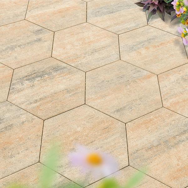 Terrassenplatte Diamano 46x40x4 cm muschelkalk