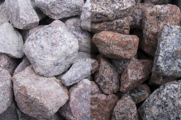 Schottischer Granitstein 20-40 mm rot grau