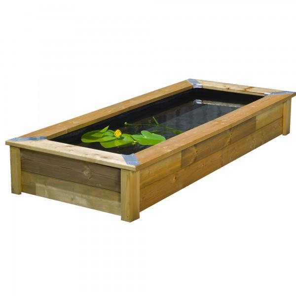 Quadro Wood 5 Fischbecken mit Holzumrandung 420 l