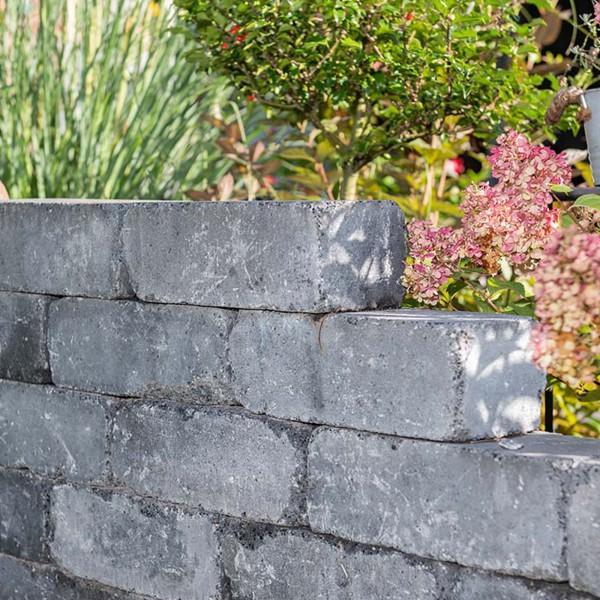 Siola Antik Mini Mauersteine basalt Gartenmauer