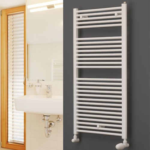 Badheizkörper TIP - weiß - gerade Ausführung Handtuchtrockner