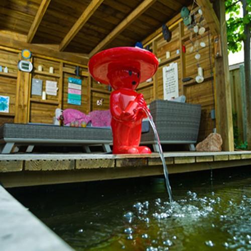Wasserspiel Mexicaner 47 cm rot - Wasserspeier Gartenteich