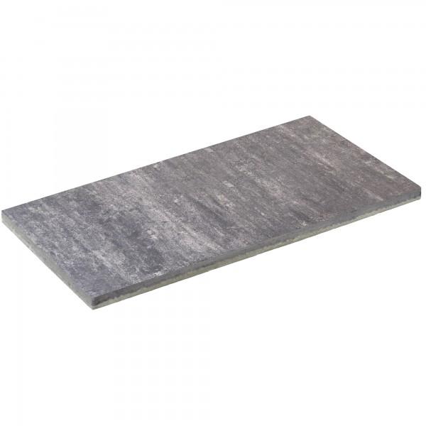 Terrassenplatte Atrio weiss schwarz 100x50x5 cm