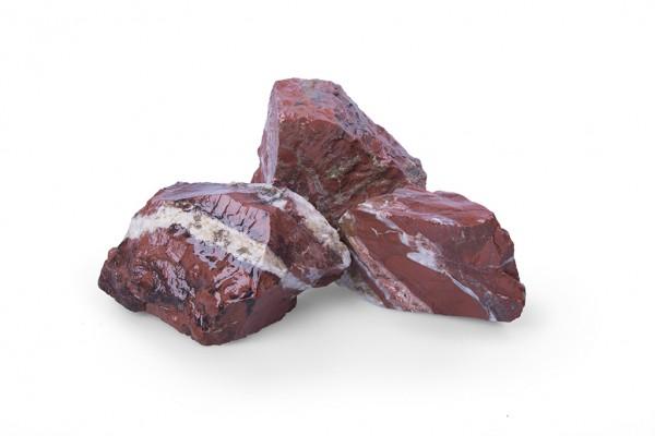 Jaspis 60 - 120 mm rot Steinmauer Gabione
