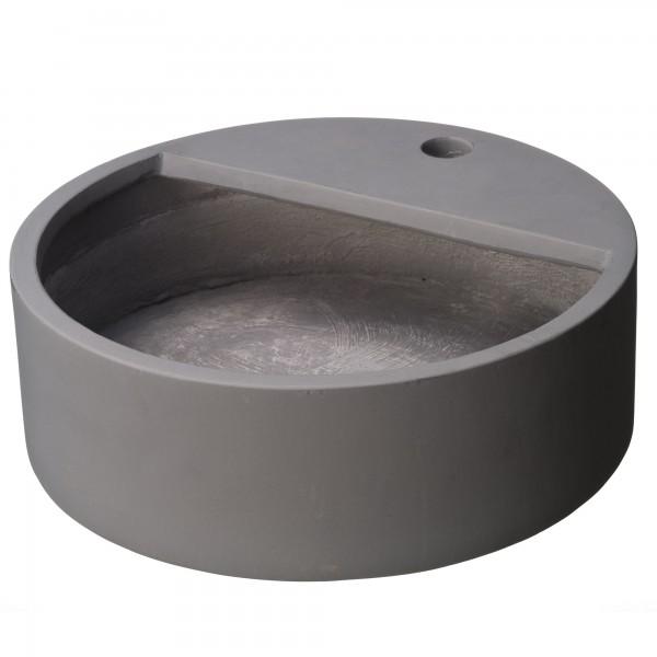Becken für Wasserspeier blau-grau