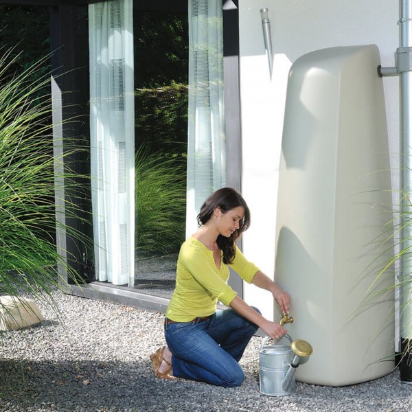 Regenwasserspeicher Wandtank Elegance sandbeige 400 L