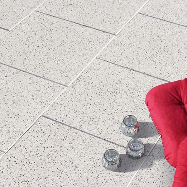 Terrassenplatte Optima granit-weiss 40x40x4 cm