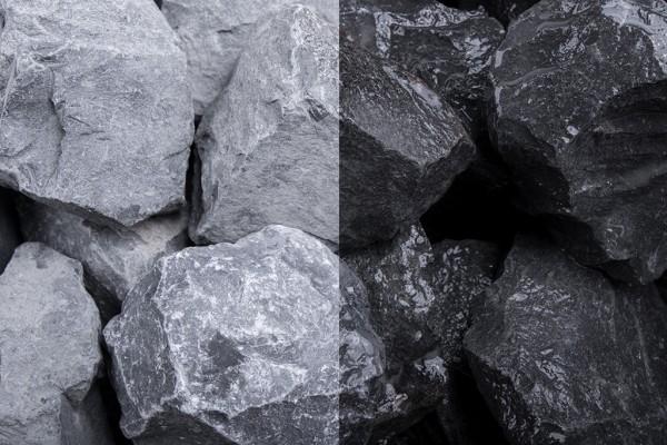 Basalt Stein 30-60 mm grau schwarz Gabionenstein