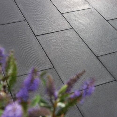 Terrassenplatte 80x40x4 cm Holzoptik - grau braun