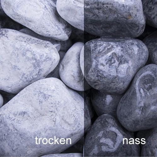 Nero Ebano getrommelt 7-60 mm Marmor schwarz