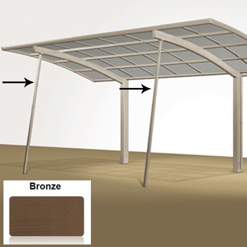 Stützstange für Alu Carport Portoforte und Linea - bronze